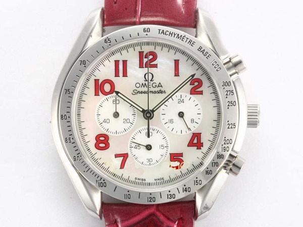 Chronomètre co-axial omega seamaster 300 avec nouvelle lanière en cuir